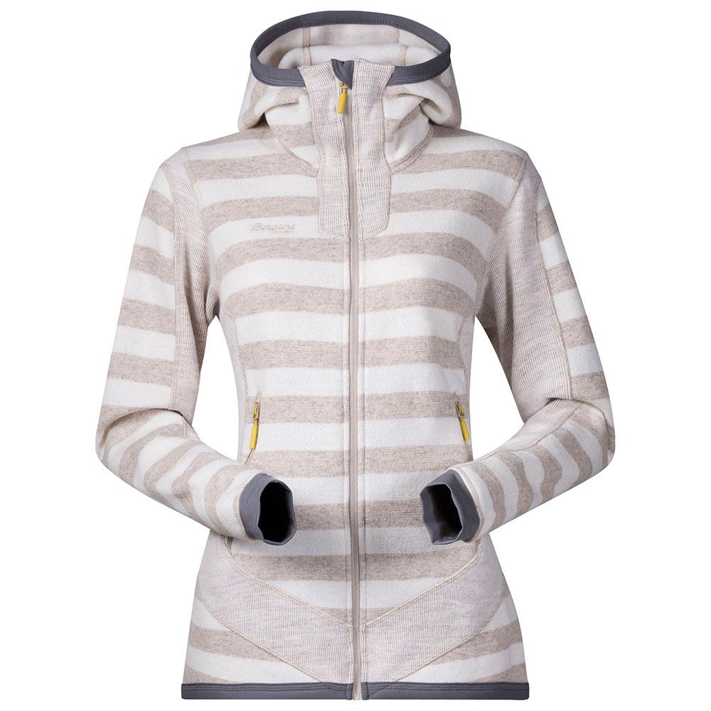 Дамско вълнено яке Bergans Hollvin Wool Lady Jacket Cream/Beige Strip
