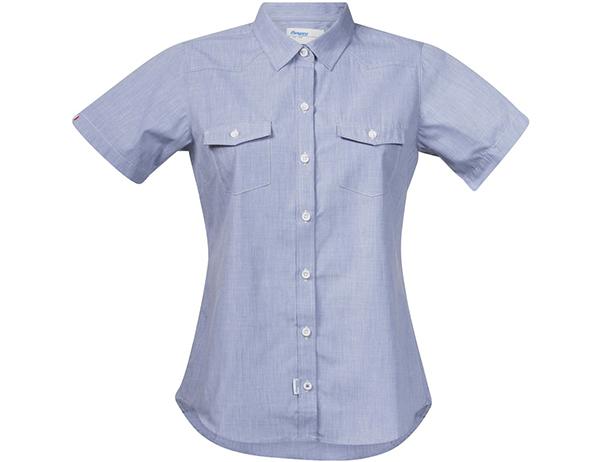 Дамска туристическа риза с къс ръкав Bergans Justøy Lady SS Chambray