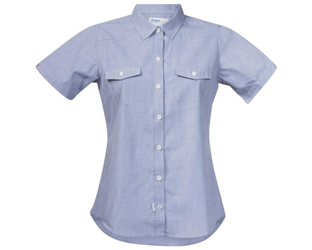Дамска туристическа риза с къс ръкав Bergans Justøy Lady SS Chambray 2018