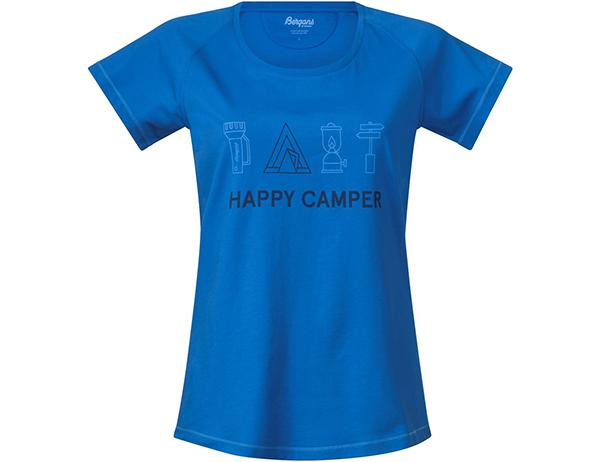Дамска тениска Bergans Happy Camper W Fjord