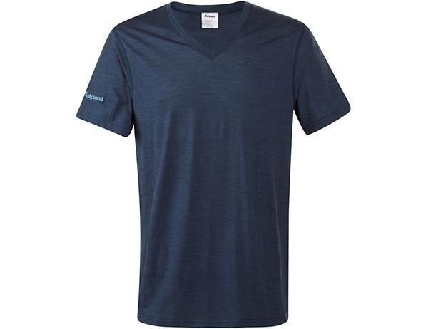 Мъжка тениска от мерино вълнa Bergans Bloom Wool Tee Navy Melаnge 2021