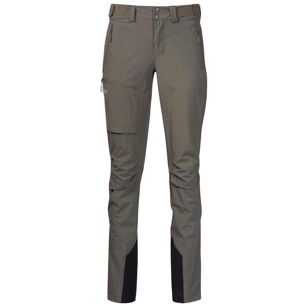 Дамски туристически софтшел панталон Bergans Breheimen Softshell W Green Mud