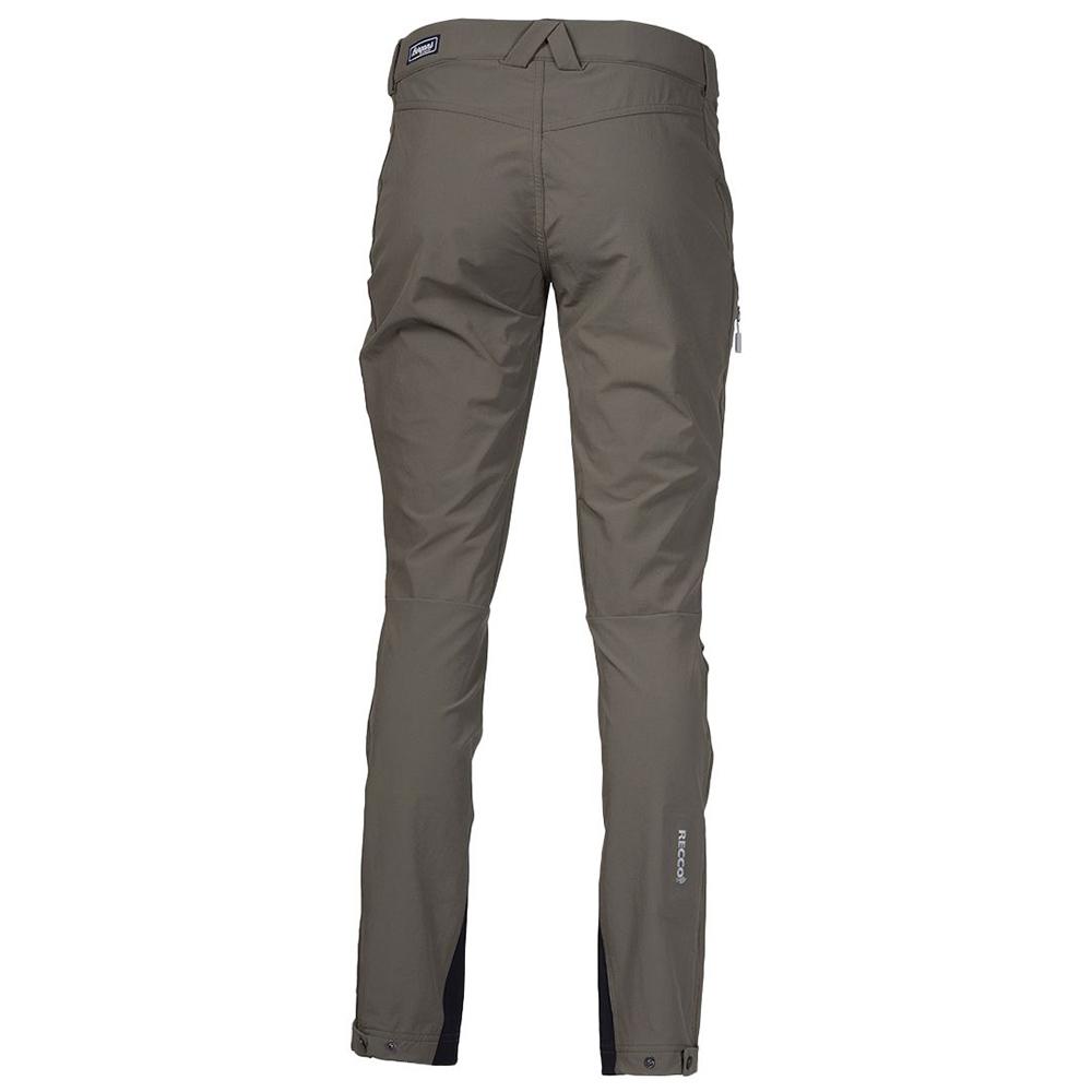 Гръб на дамски туристически софтшел панталон Bergans Breheimen Softshell W Green Mud