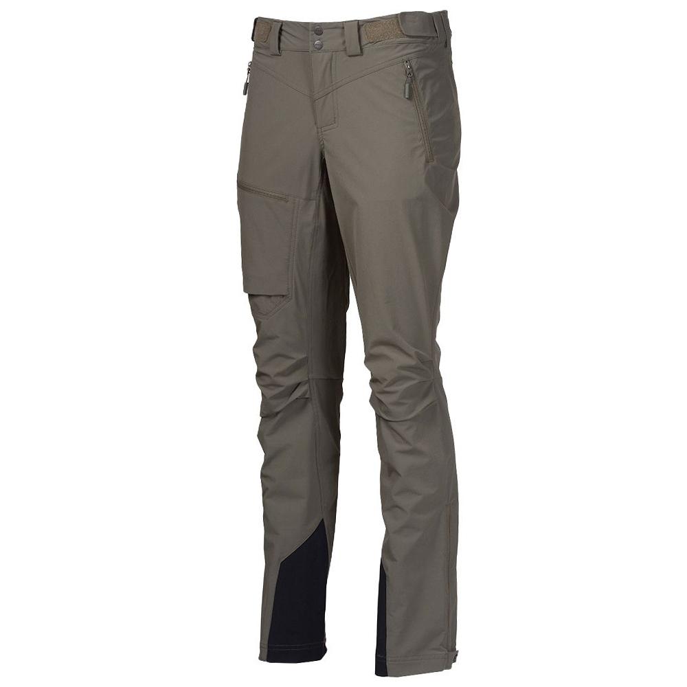 Лице на дамски туристически софтшел панталон Bergans Breheimen Softshell W Green Mud