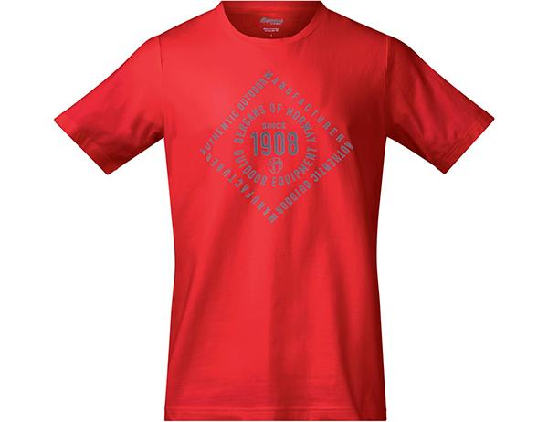 Мъжка тениска Bergans 1908 Tee Fire Red 2019