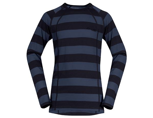 Детска термо блуза Bergans Fjellrapp Youth Shirt Dark Navy Fogblue 2019