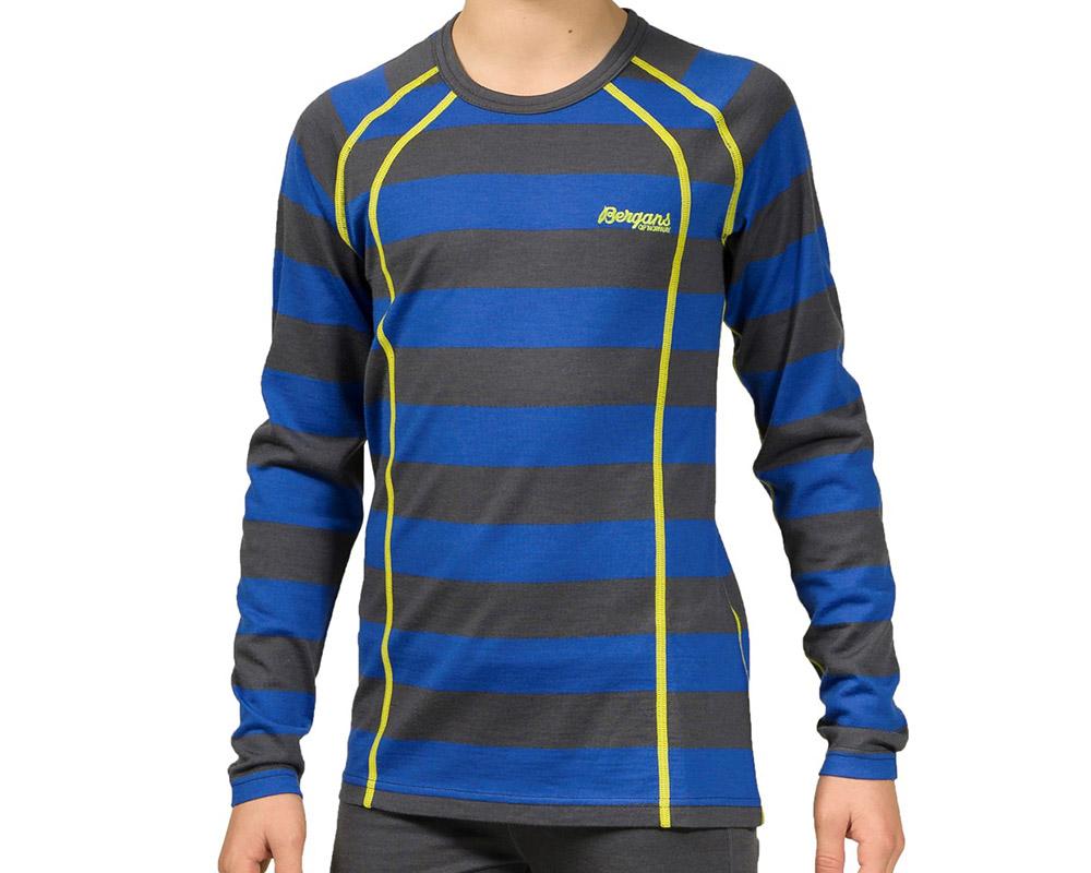 Детска термо мерино блуза Bergans Fjellrapp Youth Shirt на дете