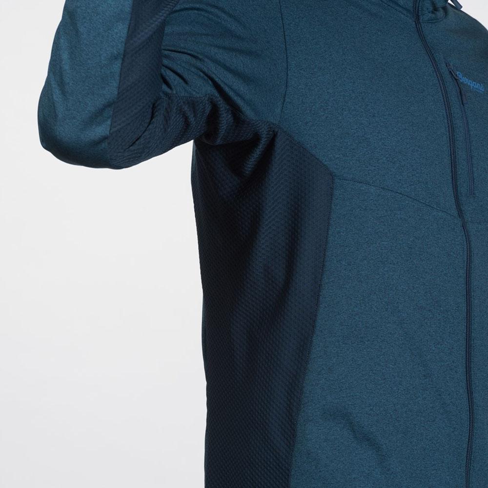 Еластична материя под мишниците мъжко поларено яке Bergans Fløyen Fleece JKT