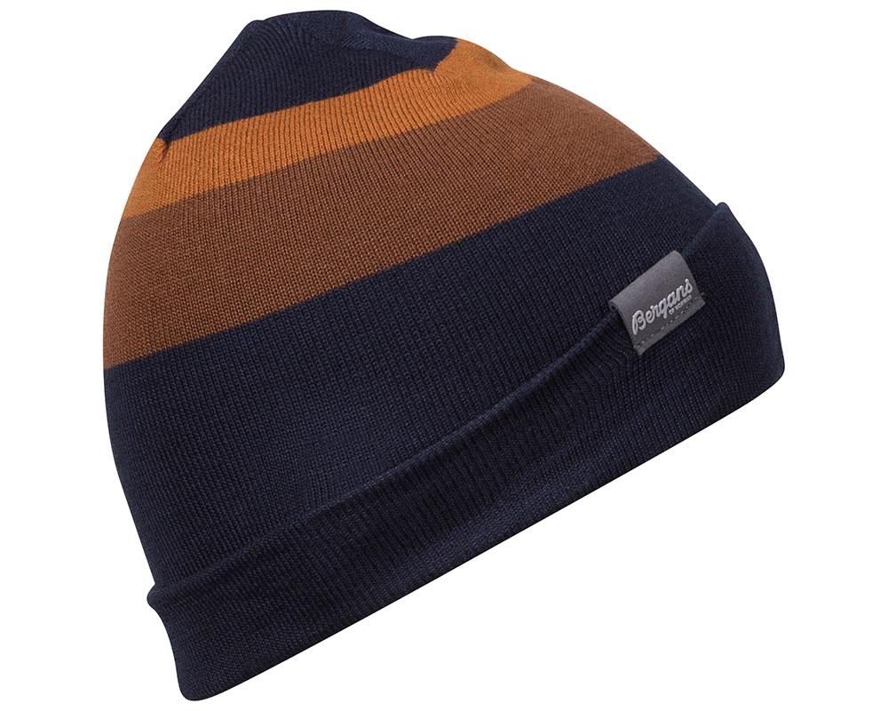 Зимна шапка от мерино вълна Bergans Tonal Beanie Dark Navy Dark Copper