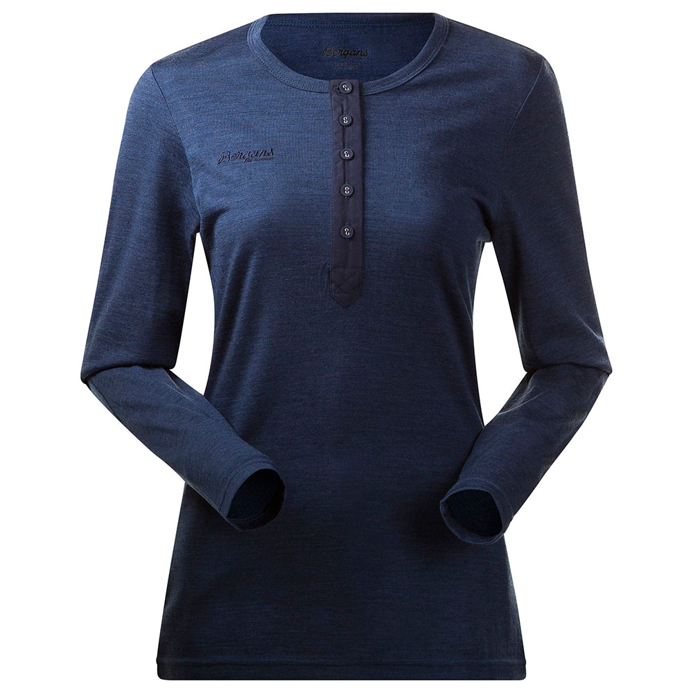 Дамска блуза от мерино вълна Bergans Henley Wool Lady Shirt Navy Mel