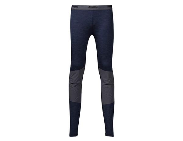 Bergans Myske Youth Merino Wool Tights Navy Melange/Solid Dark Grey