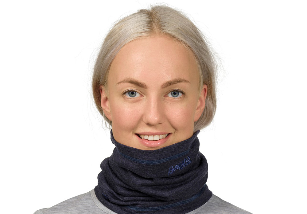 Мерино шал-лента Bergans Fjellrapp Neck Warmer шал манекен жена
