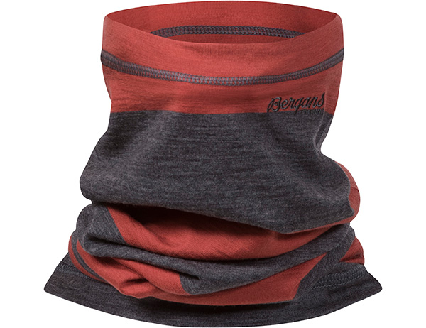 Шал от мерино вълна Bergans Fjellrapp Neck Warmer Lounge Dark Grey