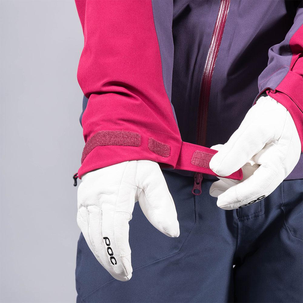 Велкро пристягане на ръкавите дамско ски яке с изолация Bergans Oppdal Insulated Lady Jacket Beet Red/Purple Velvet