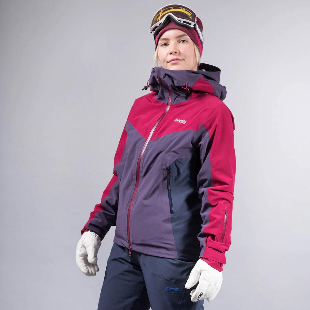 Дамско ски яке с изолация Bergans Oppdal Insulated Lady Jacket Beet Red/Purple Velvet