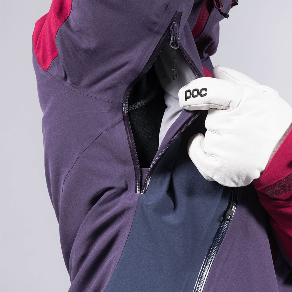 Проветрение под мишниците на дамско ски яке с изолация Bergans Oppdal Insulated Lady Jacket Beet Red/Purple Velvet