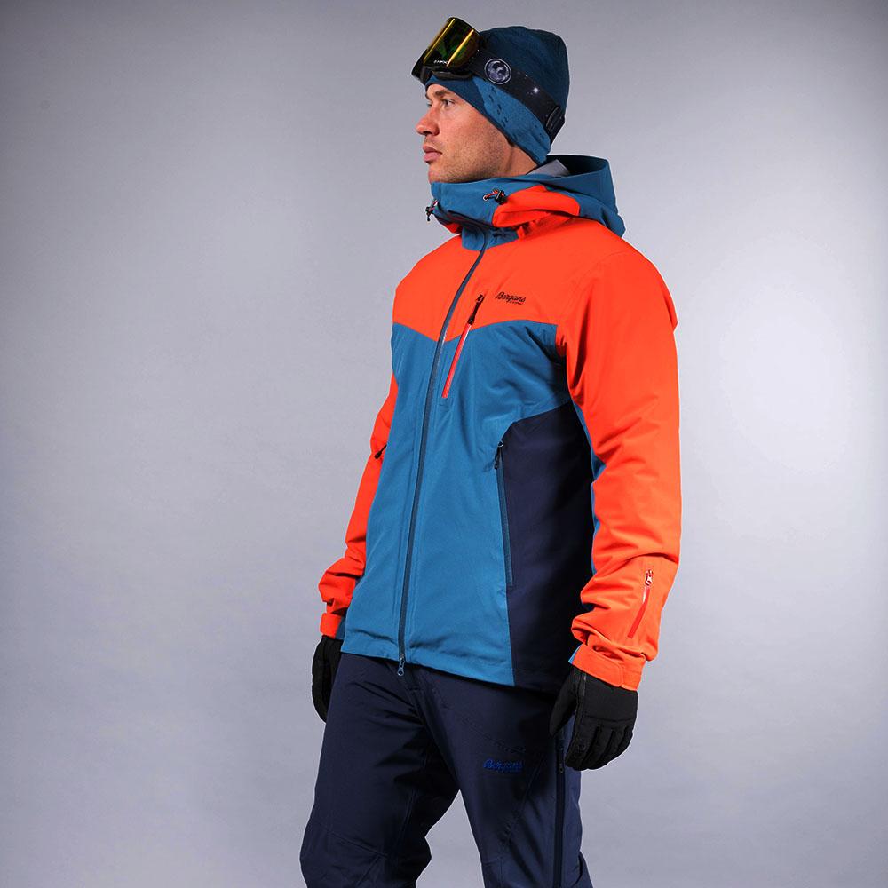 Мъжко ски яке с изолация Bergans Oppdal Insulated Jacket Lava / Stone Blue / Navy