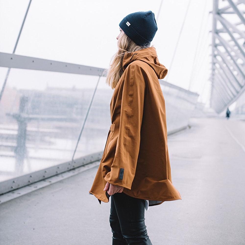 Дамско хардшел мембрана пончо Bergans Oslo 3L W Poncho Dark Copper 2019