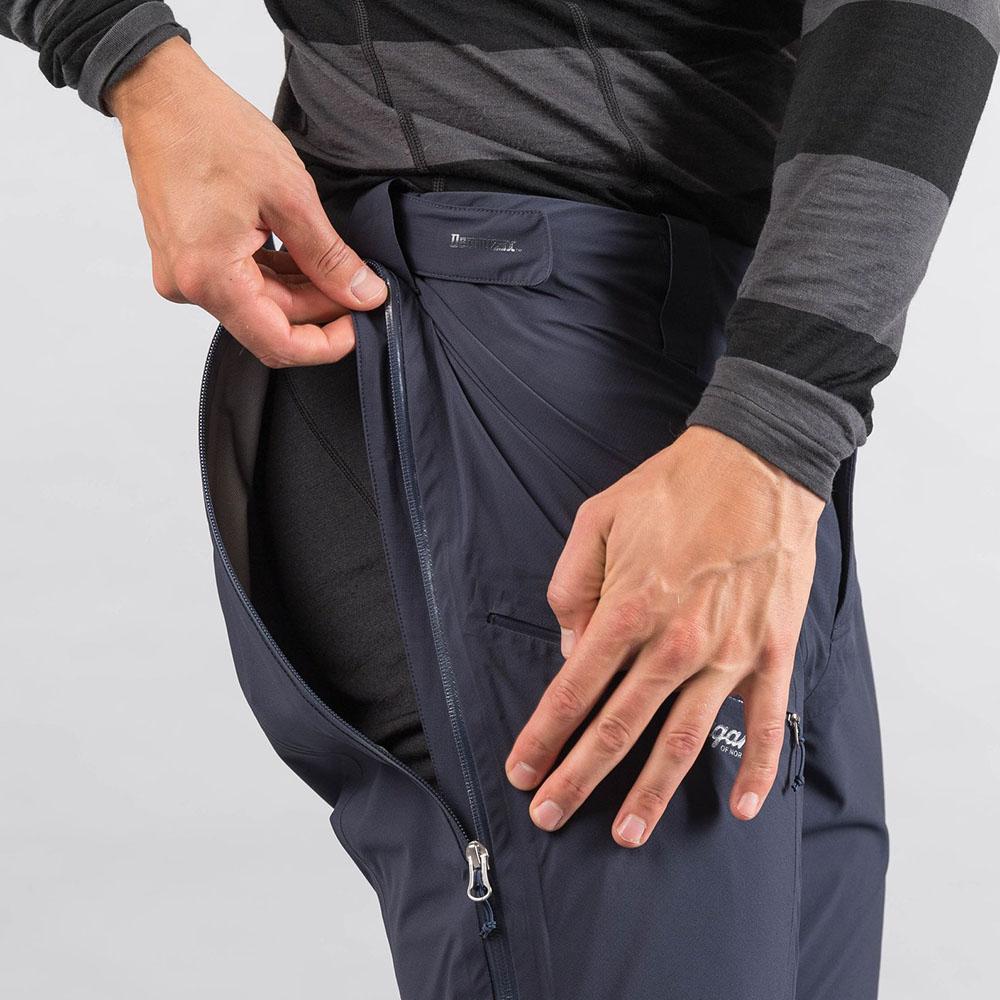 Странични ветилационни отвори мъжки хардшел панталон Bergans Slingsby 3L Pnt Dk Navy