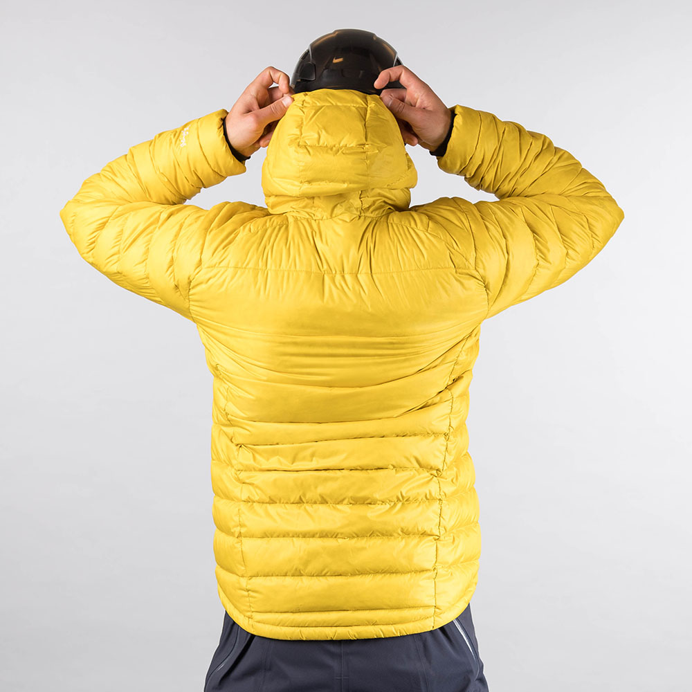 Мъжко пухено яке Bergans Slingsby Down Light Jacket w/Hood Waxed Yellow
