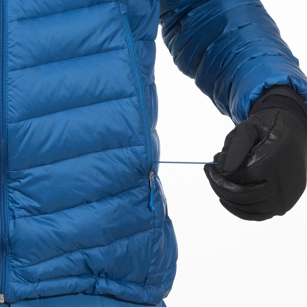 Ластични шнурове за пристягане в талията на пухено яке Bergans Slingsby Down Light w/Hood Ocean 2019