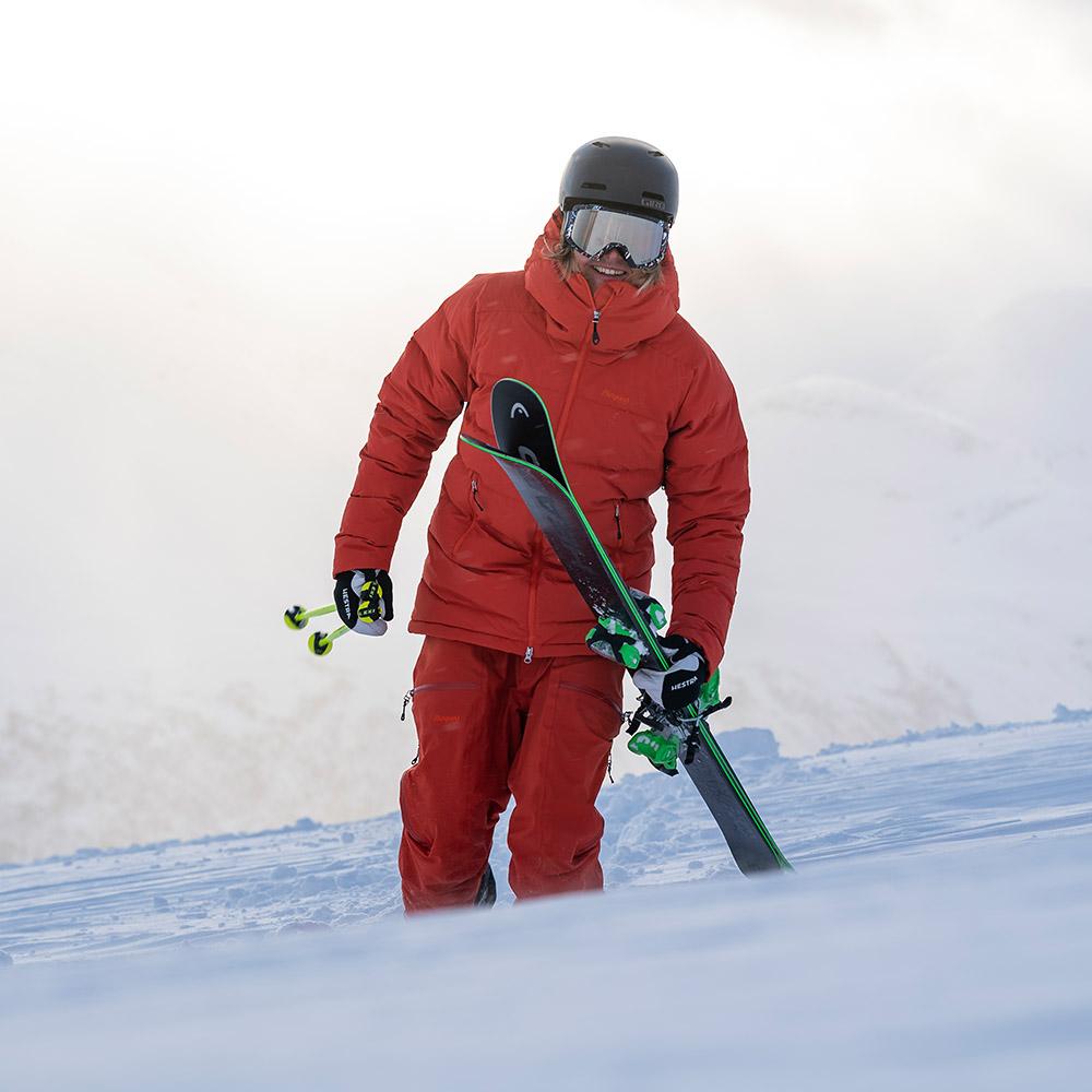 На ски с мъжко пухено PrimaLoft ски яке Bergans Stranda Down Hybrid Lava / Magma