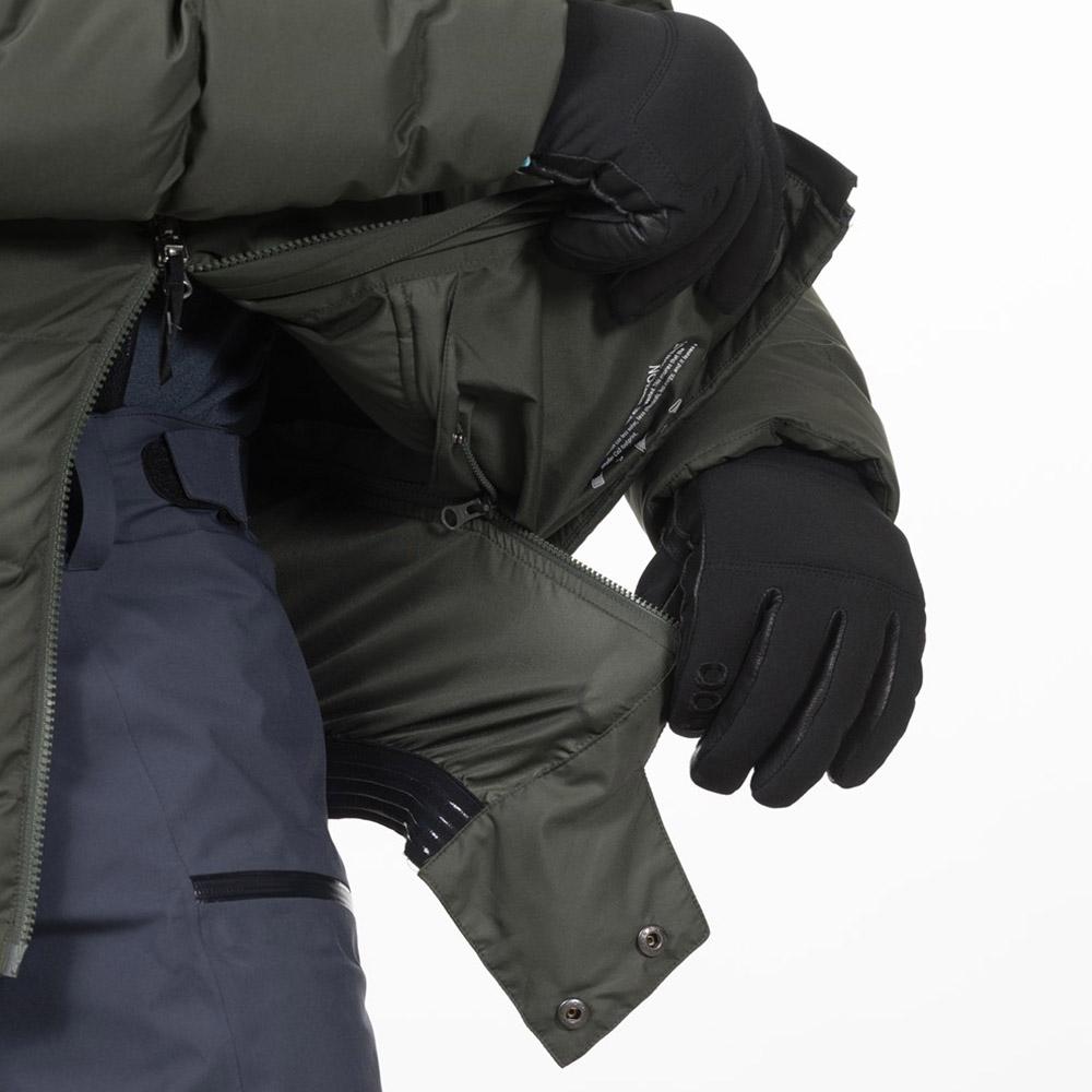 Разкачаща се пола за сняг пухенка за ски Bergans Stranda Down Hybrid