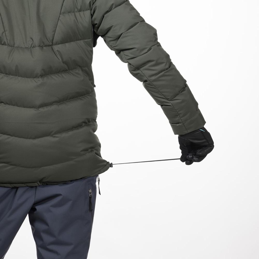 Шнурове за пристягане в талията пухенка за ски Bergans Stranda Down Hybrid