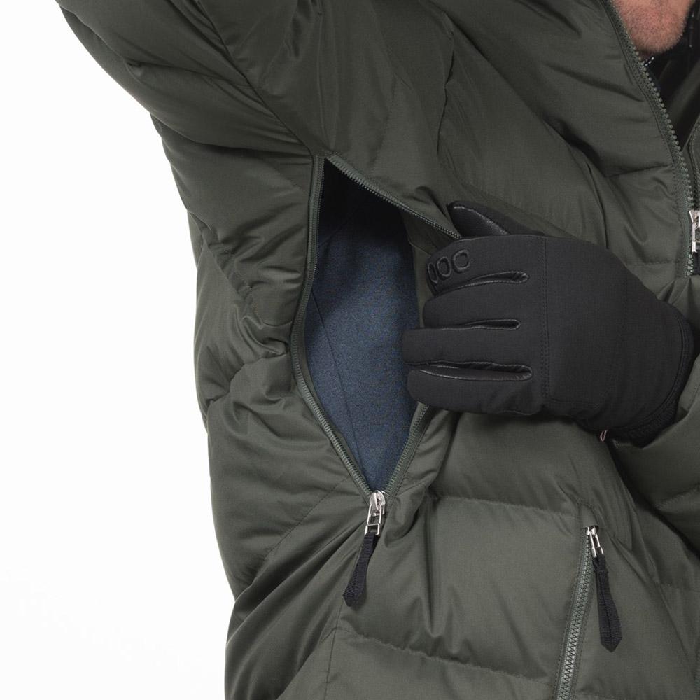Вентилационни отвори под мишниците пухенка за ски Bergans Stranda Down Hybrid