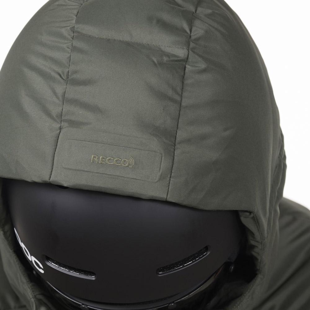 RECCO рефлектор на качулката пухенка за ски Bergans Stranda Down Hybrid
