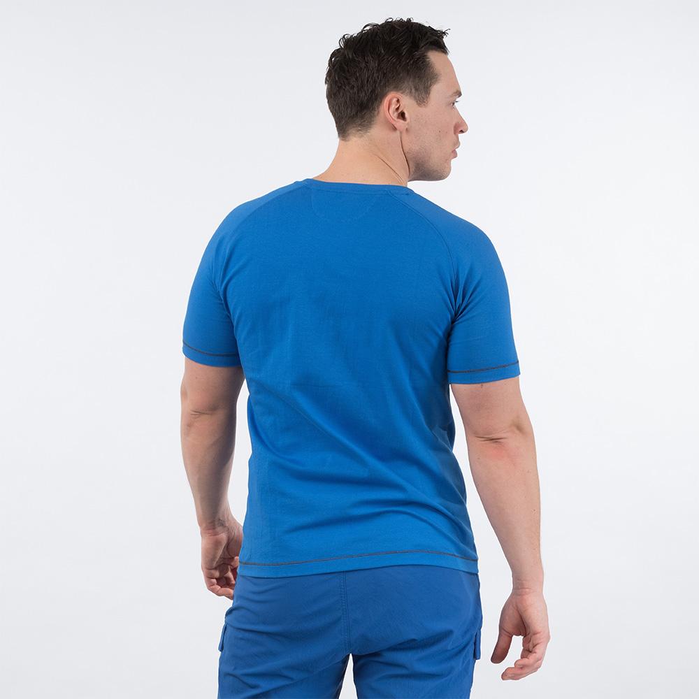 Гръб на мъжка тениска Bergans Happy Camper Tee Athens Blue 2020