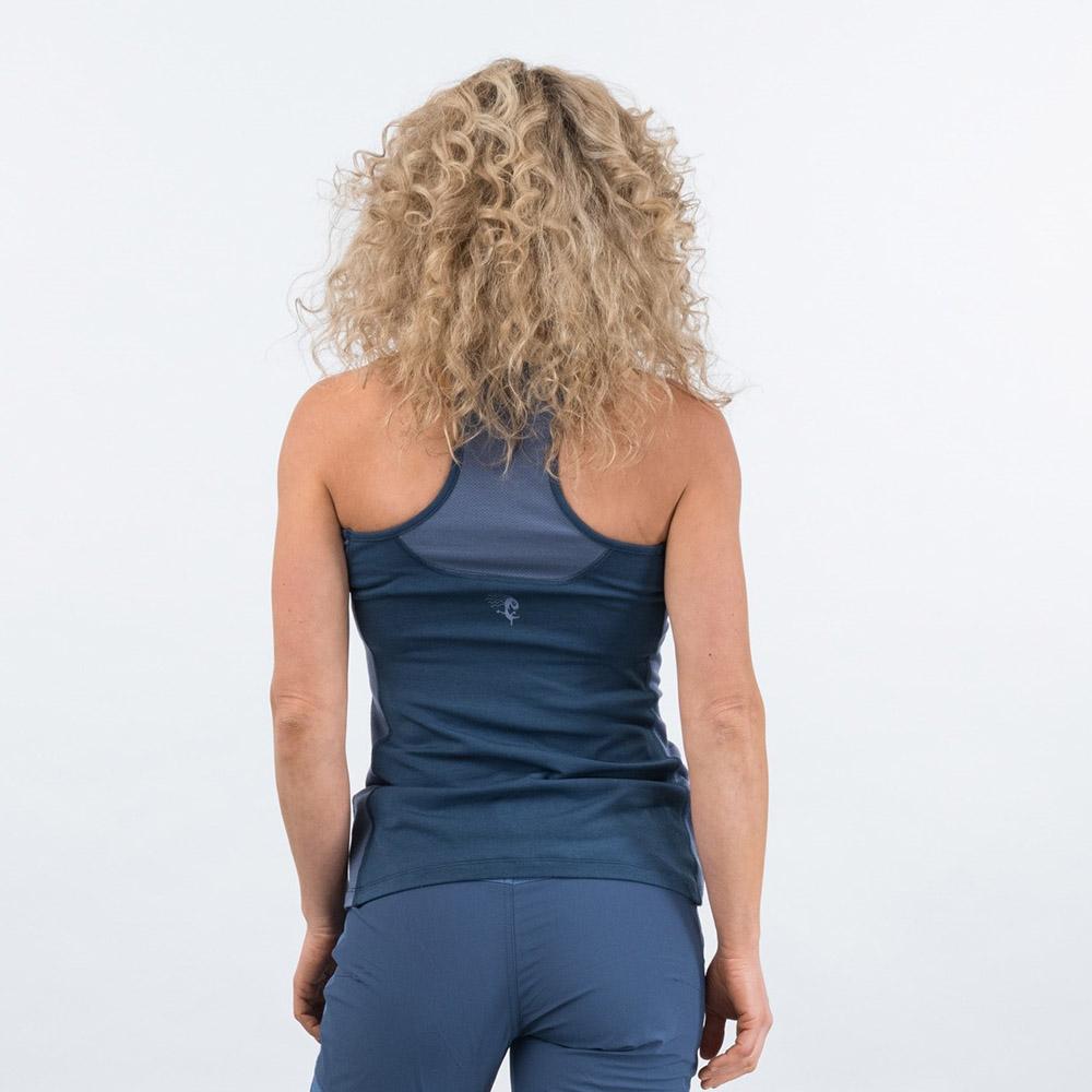 Гръб на дамски спортен потник Cecilie Active Wool Singlet Thunder Blue 2020