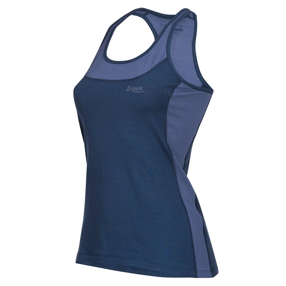 Профил на дамски спортен потник Cecilie Active Wool Singlet Thunder Blue 2020
