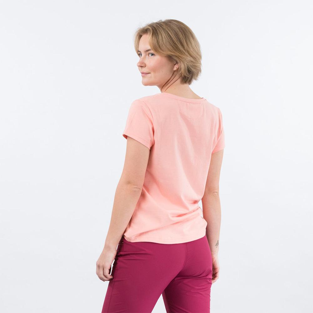 Гръб на дамска тениска Bergans Classic W Tee Peach Pink