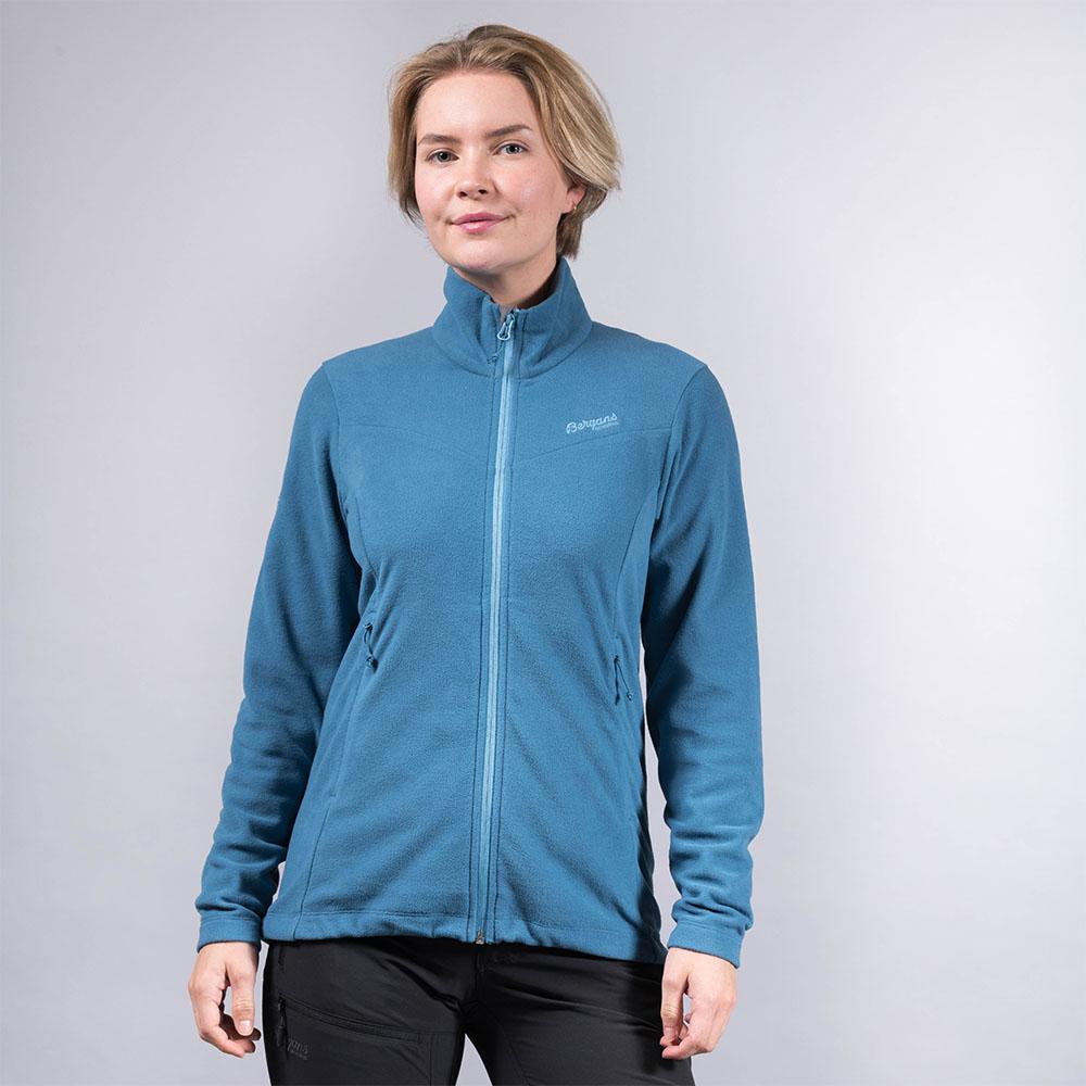 Лице на дамски полар Bergans Finnsnes Fleece W Stone Blue
