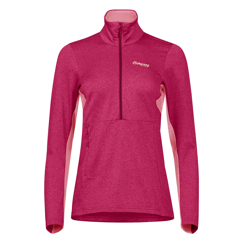 Дамски полар Bergans Fløyen Fleece W Half Zip Beet Red 2020