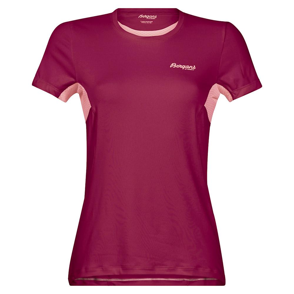 Дамска спортно-туристическа тениска Bergans Fløyen W Tee Beet Red 2020