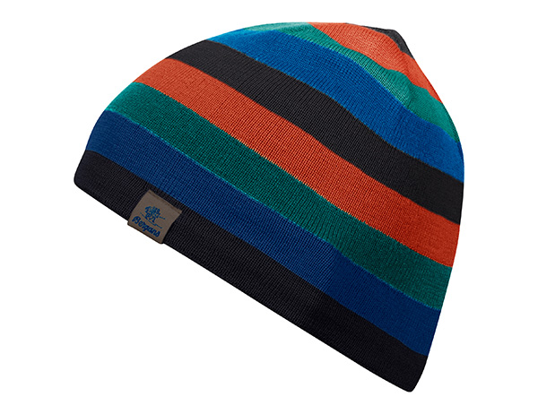 Детска вълнена шапка Bergans Frost Kids Beanie Solid Charcoal/Magma/Greenlake
