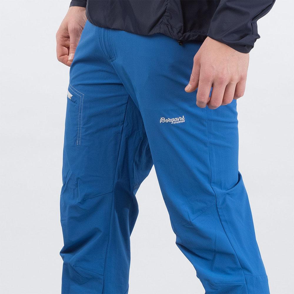 Детайли на туристически панталон Bergans Moa Pants Classic Blue 2020