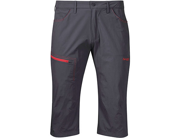 Мъжки къс панталон Bergans Moa Pirate Pants Solid Charcoal / Fire Red 2020