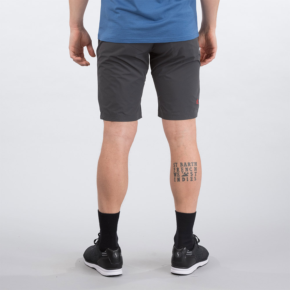 Гръб на къс панталон Bergans Moa Shorts Solid Charcoal / Fire Red 2020