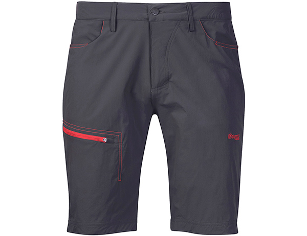Мъжки къс панталон Bergans Moa Shorts Solid Charcoal / Fire Red 2020