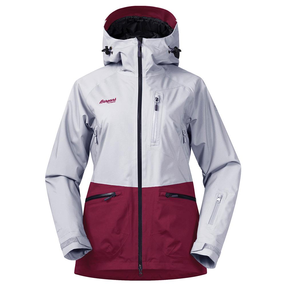 Дамско ски яке с изолация Bergans Myrkdalen Insulated Lady Jkt Silver/Beet Red модел 2018