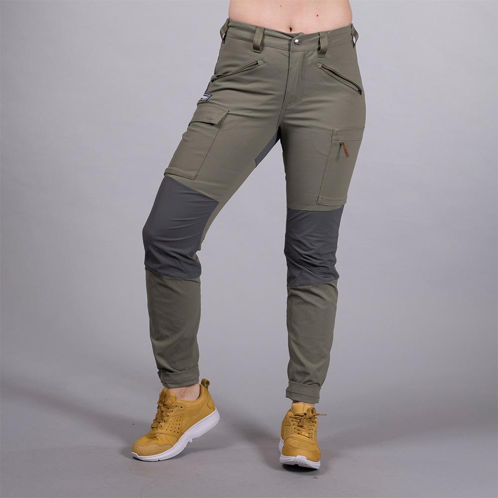 Лице на туристически панталон Bergans Nordmarka Hybrid W Green Mud 2020