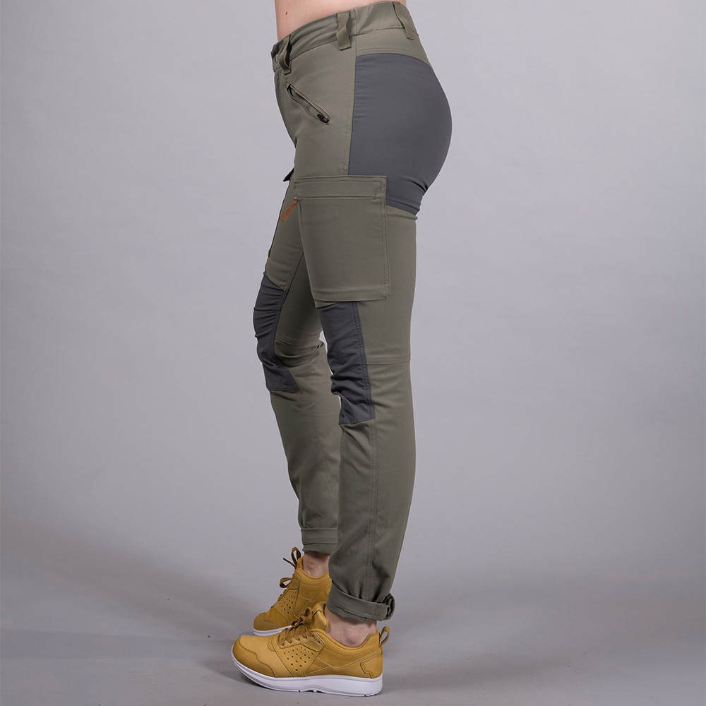 Профил на туристически панталон Bergans Nordmarka Hybrid W Green Mud 2020