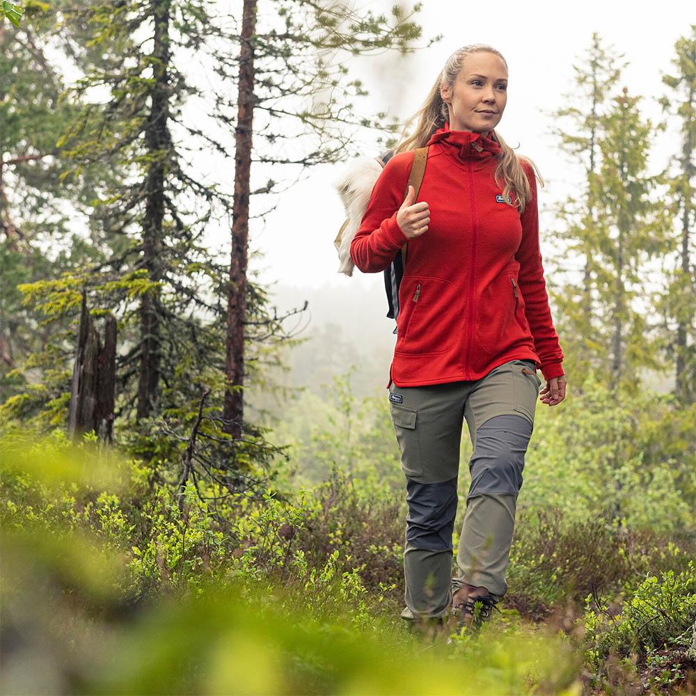 Трекинг с туристически панталон Bergans Nordmarka Hybrid W Green Mud 2020