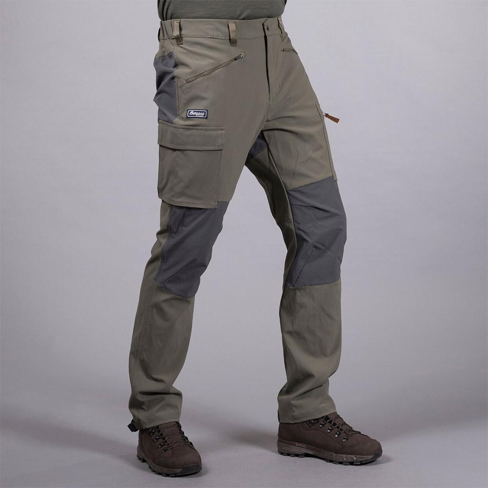 Лице на мъжки туристически панталон Bergans Nordmarka Hybrid Green Mud 2020