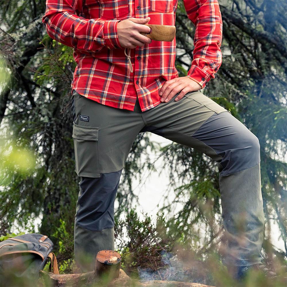 Трекинг с мъжки туристически панталон Bergans Nordmarka Hybrid Green Mud 2020