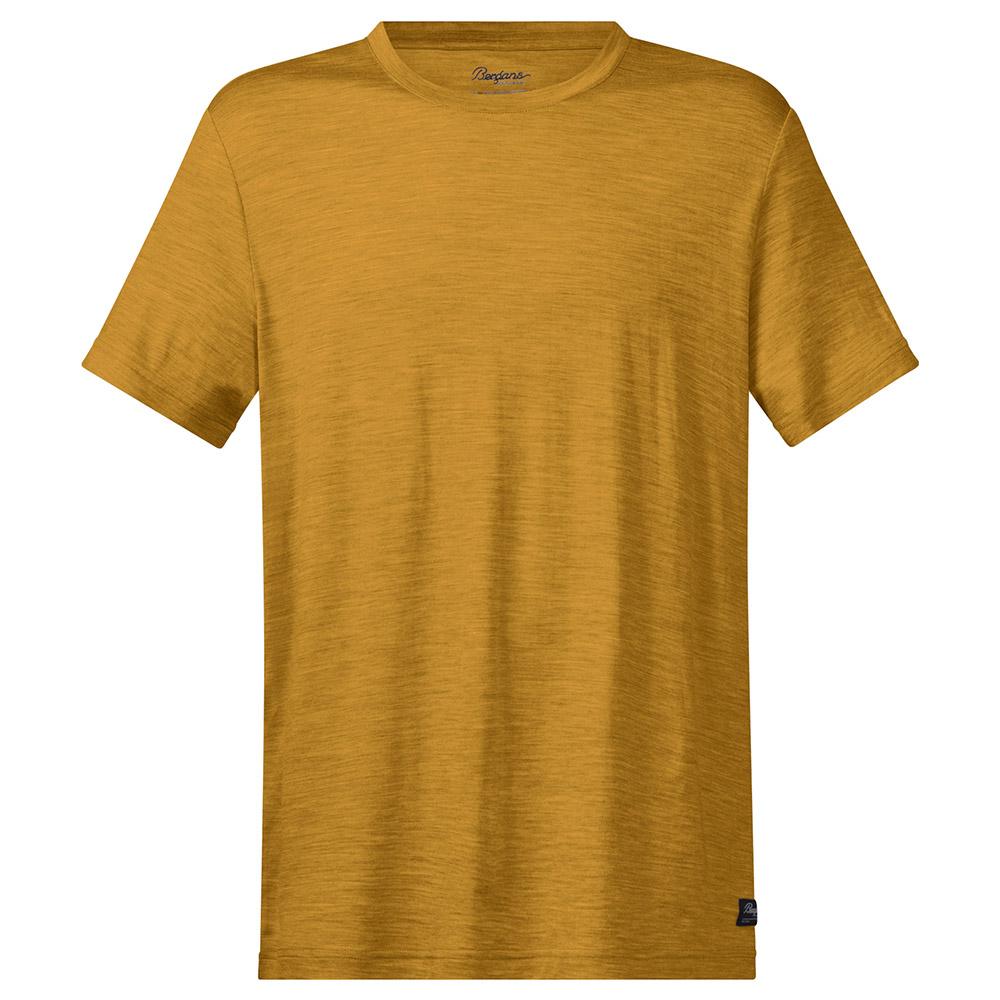Мъжка тениска от мерино вълнa Bergans Oslo Wool Tee Mustard Yellow 2020
