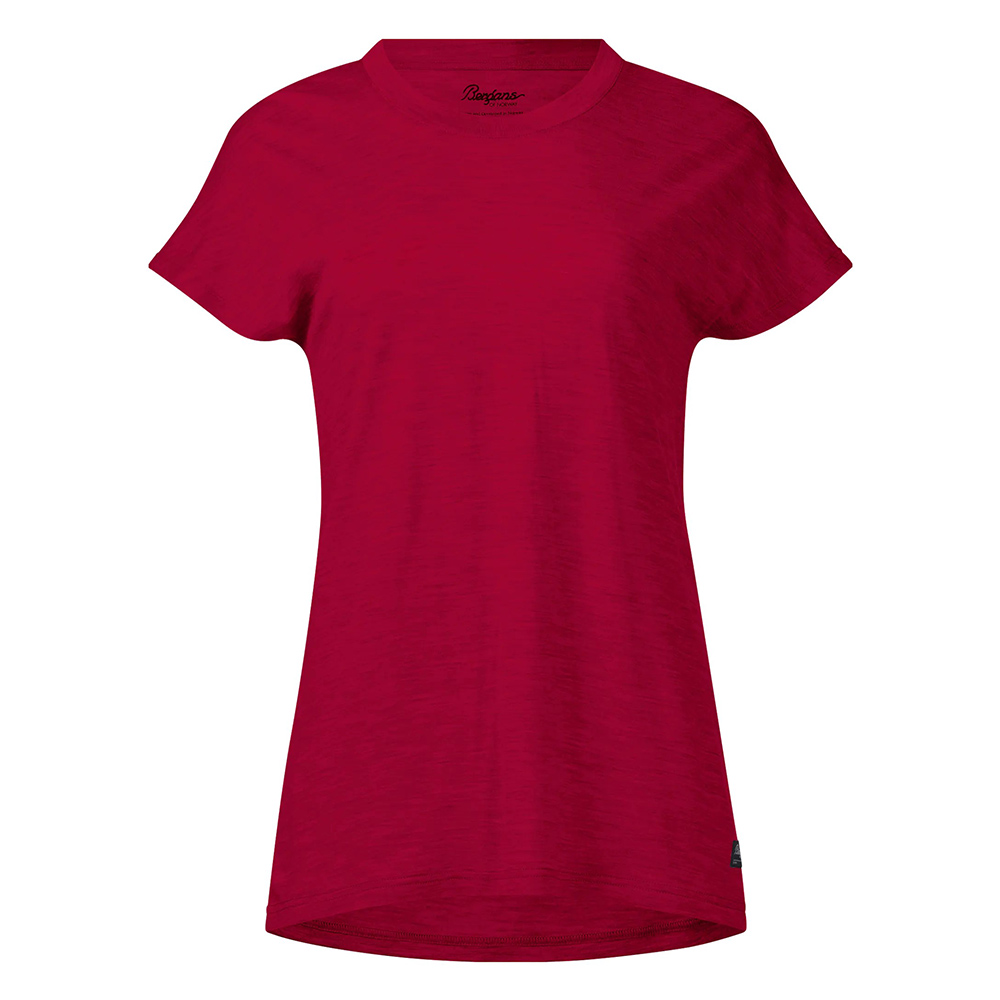 Дамска тениска от мерино вълнa Bergans Oslo Wool W Tee Red 2020